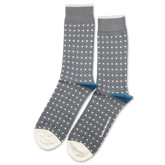 Democratique - Polka Dot Socks - Warm Coal / Off White / Diesel