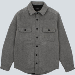 SATURDAYS NYC - JEREMIAH CPO OVERSHIRT - ASH HEATHER