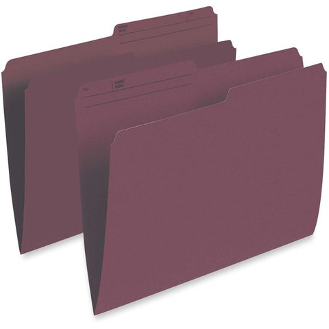 TOPS Products Single Top Vertical Colored File Folder
