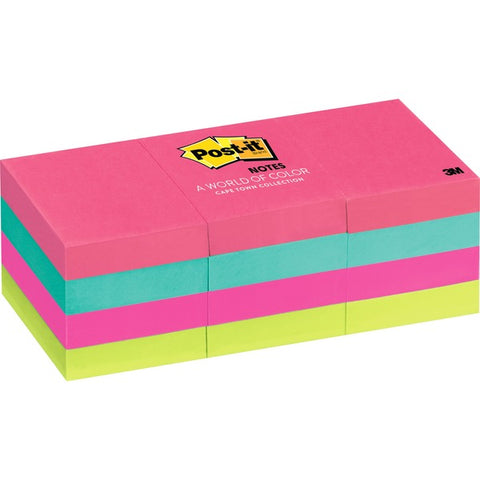 "3M Post-it® Notes, 1.5"" x 2"" Cape Town Collection"