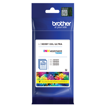Brother INKvestment Tank Ultra High-yield Ink, Yellow