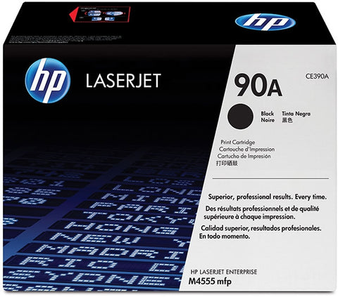 HP 90A (CE390A) LaserJet M4555 MFP Enterprise 600 M601 M602 M603 Black Original LaserJet Toner Cartridge (10000 Yield)