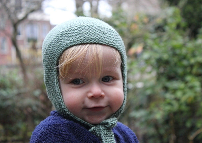 Baby Cap Olive Green Natural Knitters