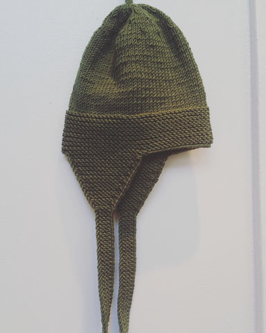 Baby Cap Moss-Green Natural Knits