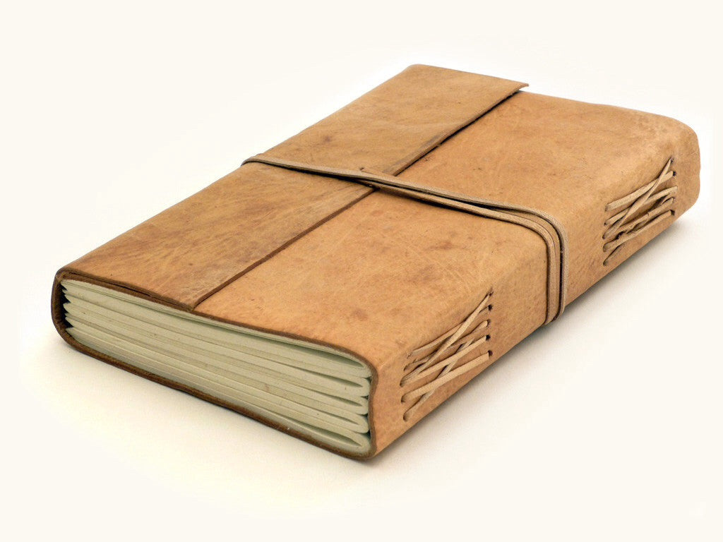 Raw Leather Bound Journal Large