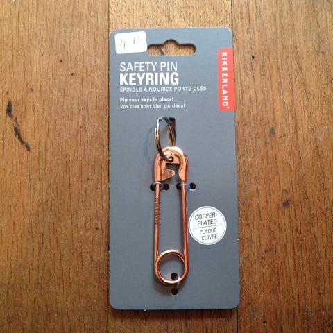 Safety Pin Keyring Kikkerland
