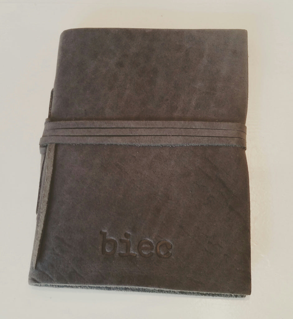 Leather Traveljournal BIEC Grey