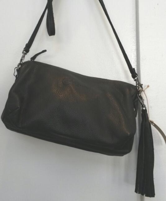 Elvy Jolie Zipper Bag Black