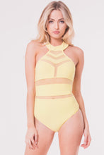 Load image into Gallery viewer, MESH DETAIL HALTER BODYSUIT