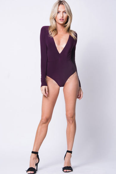 DEEP V DOUBLE LAYERED BODYSUIT