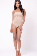 Load image into Gallery viewer, STRAPLESS SUEDE BODYSUIT
