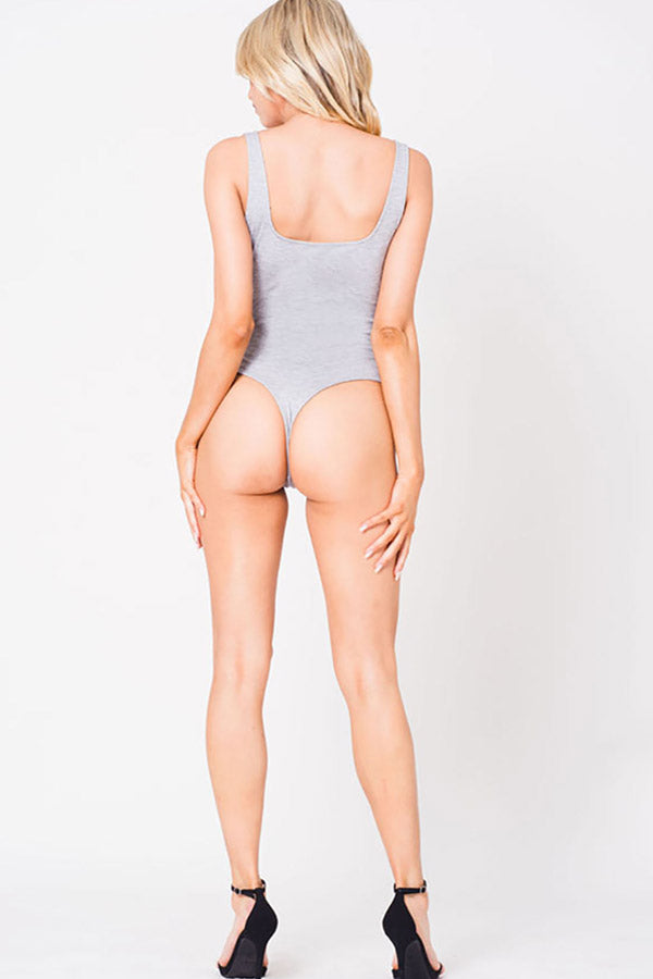 DEEP V SLEEVELESS BODYSUIT
