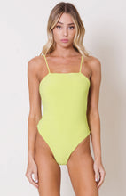 Load image into Gallery viewer, STRAIGHT NECK STRAPPY BACK BODYSUIT