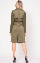 Load image into Gallery viewer, FAUX SUEDE SELF TIE COAT
