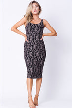 Load image into Gallery viewer, FLORAL LACE SLEEVELESS DRESS