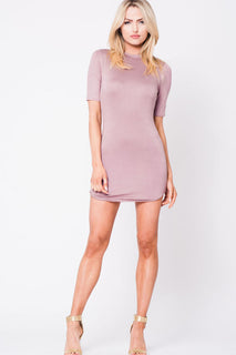 SHORT SLEEVE DOUBLE LAYERED DRESS
