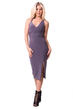 Load image into Gallery viewer, HALTER NECK SOLID MIDI DRESS