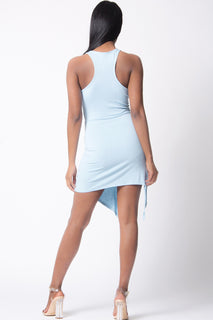 SOLID SLEEVELESS MINI DRESS
