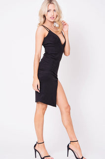 DOUBLE STRAP SUEDE DRESS