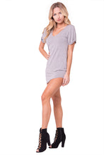 Load image into Gallery viewer, SHORT SLEEVES SHIFT MINI DRESS