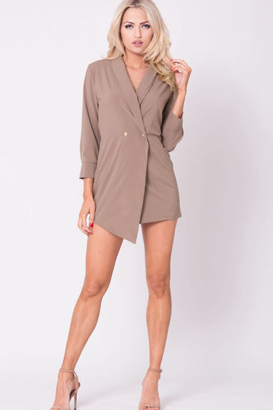 LONG SLEEVE BLAZER DRESS