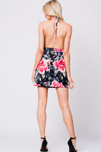 Load image into Gallery viewer, FLORAL PRINT HALTER MINI DRESS