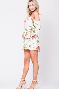 OFF SHOULDER FLORAL MINI DRESS