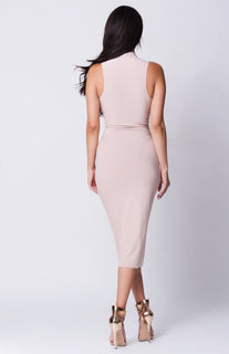 RAW EDGES SLEEVELESS DRESS