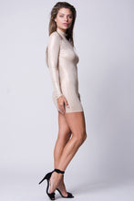 Load image into Gallery viewer, MOCK NECK LONG SLEEVE BODY-CON DRESS