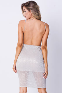 OPEN BACK MINI DRESS
