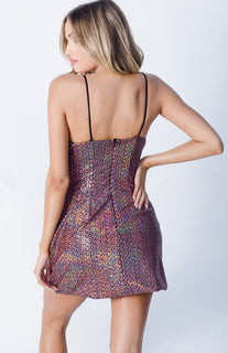 SELENA SEQUIN SIDE POCKET DRESS