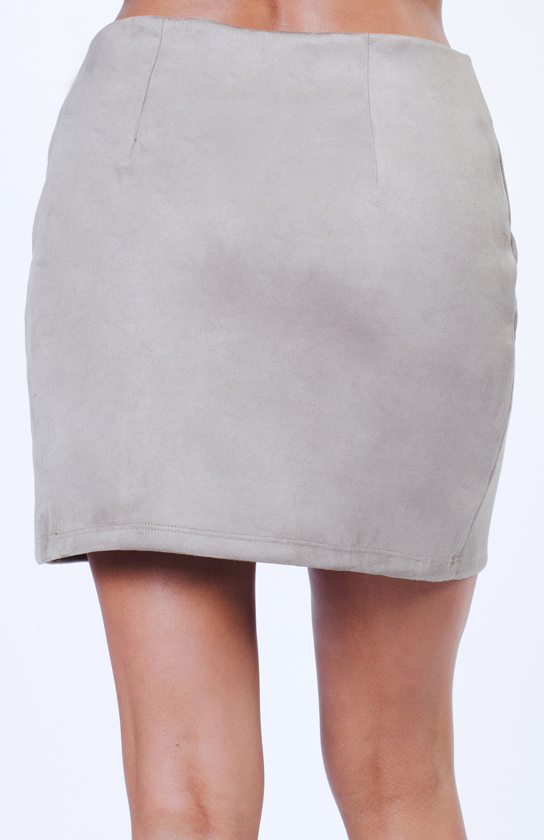 2-WAY ZIPPER SUEDE SKIRT