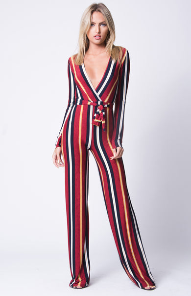 SLINKY STRIPED JUMPSUIT