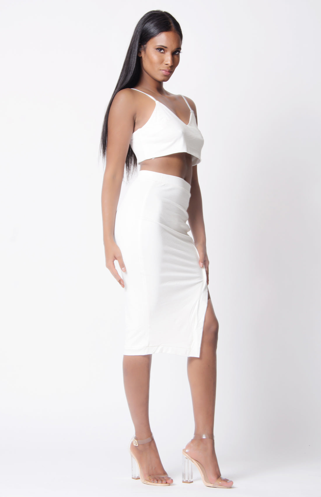 HIGH WAIST ASYMMETRICAL SKIRT