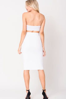 HOOK AND EYE MIDI SKIRT