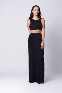 SLEEVELESS MAXI SKIRT SET