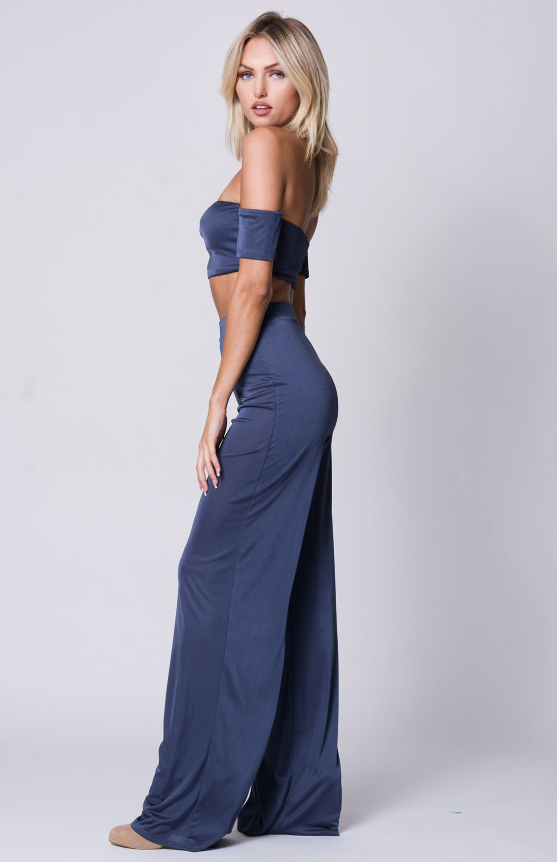 OFF SHOULDER WIDE LEGS PANTS SET
