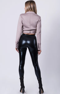 CROPPED SCUBA MOTORCYCLE JACKET