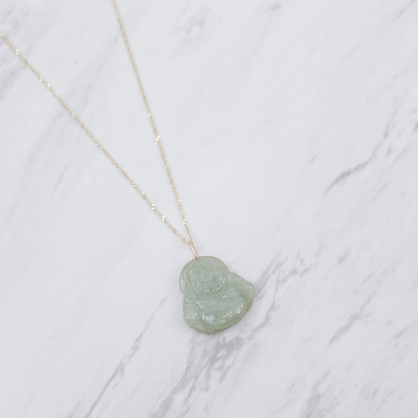 Green Jade Buddha II Necklace