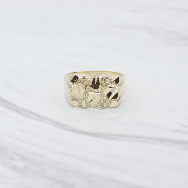 Square Gold Crusted Ring