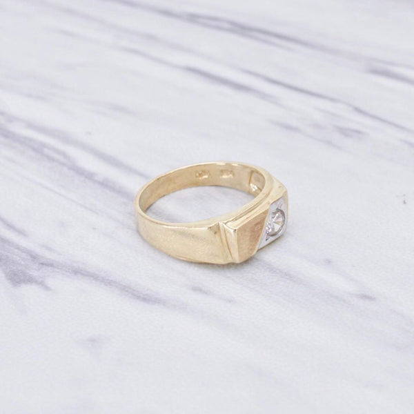 Two Toned Prism Ring