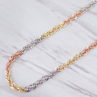 Tri Color Rope Chain