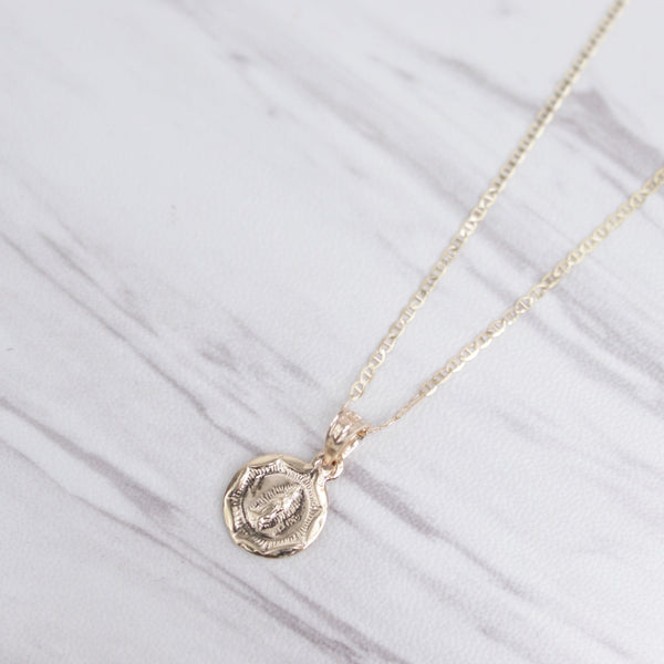 Our Lady Guadalupe Medallion Necklace