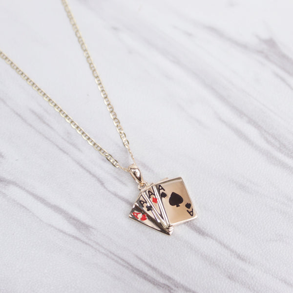 Aces Card Deck Necklace