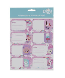 Name and Subject Label Stickers - Candyland