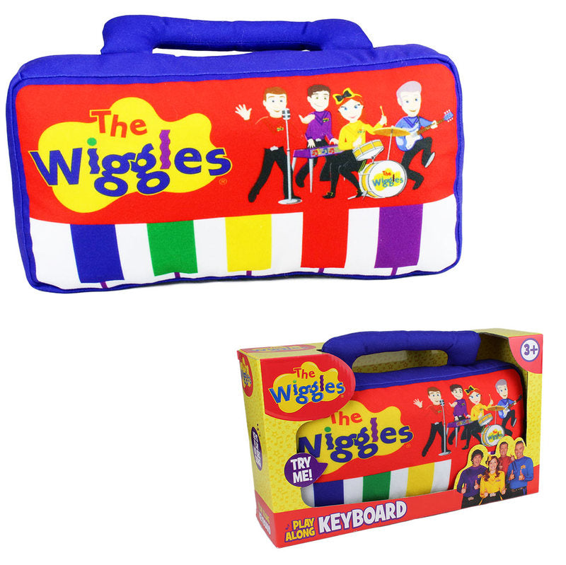 The Wiggles Plush Play Along Keyboard with Sound