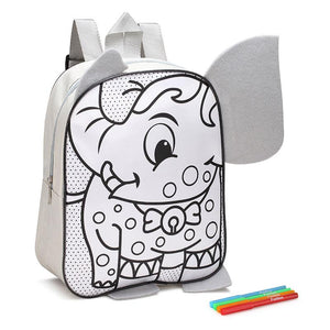 Fun Box Activity - Elephant Colour-In Backpack