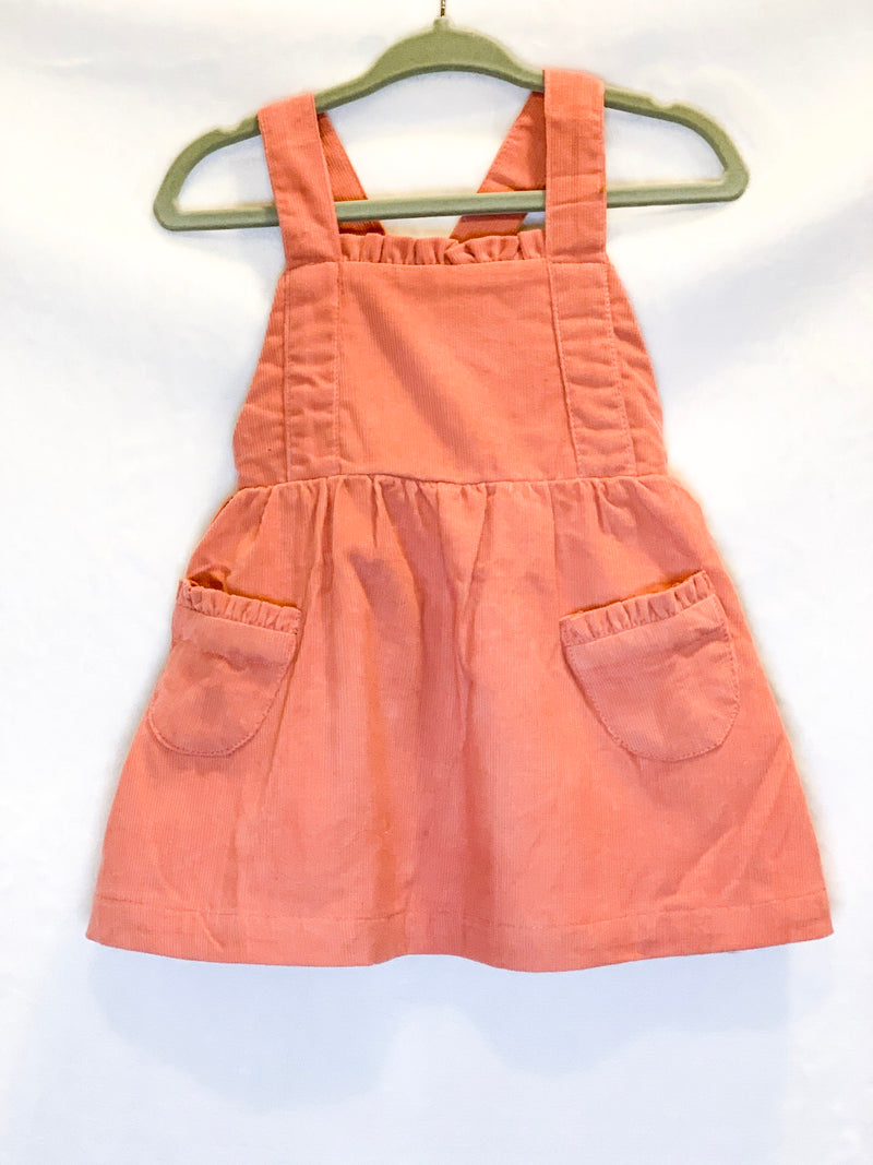 Corduroy Overall Pinafore Dress