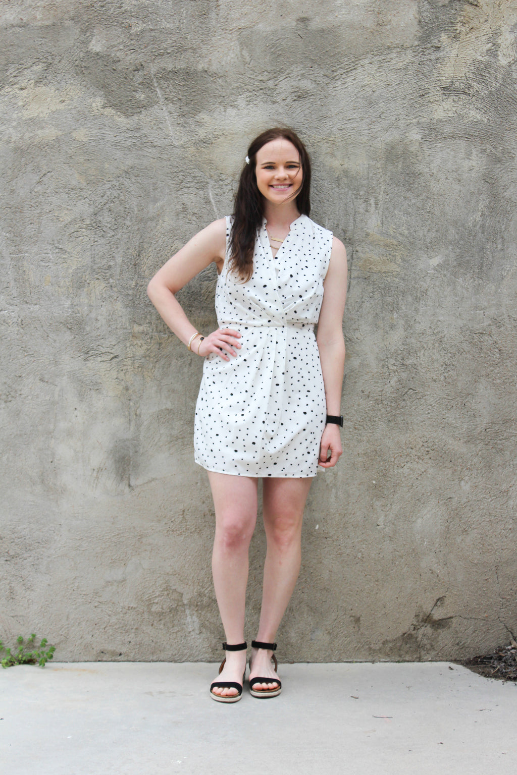 Speckled Collared Dress