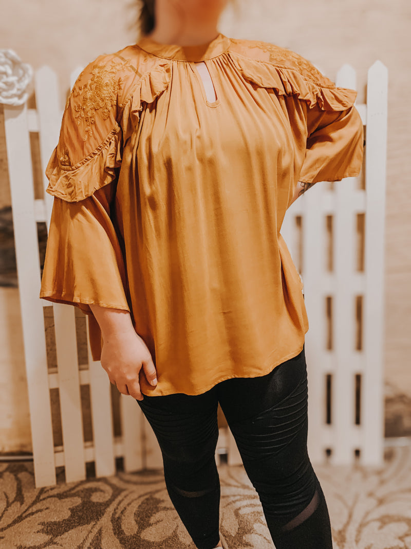 Sheer Shoulder Blouse